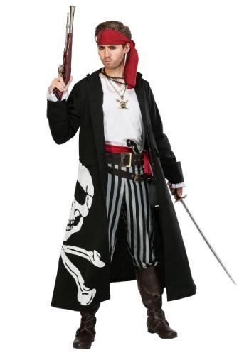 Men's Pirate Flag Captain Plus Size Costume