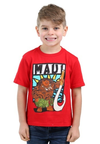 Moana Maui Red Toddler Shirt for Boys