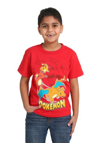Boys Pokemon Charizard Shirt