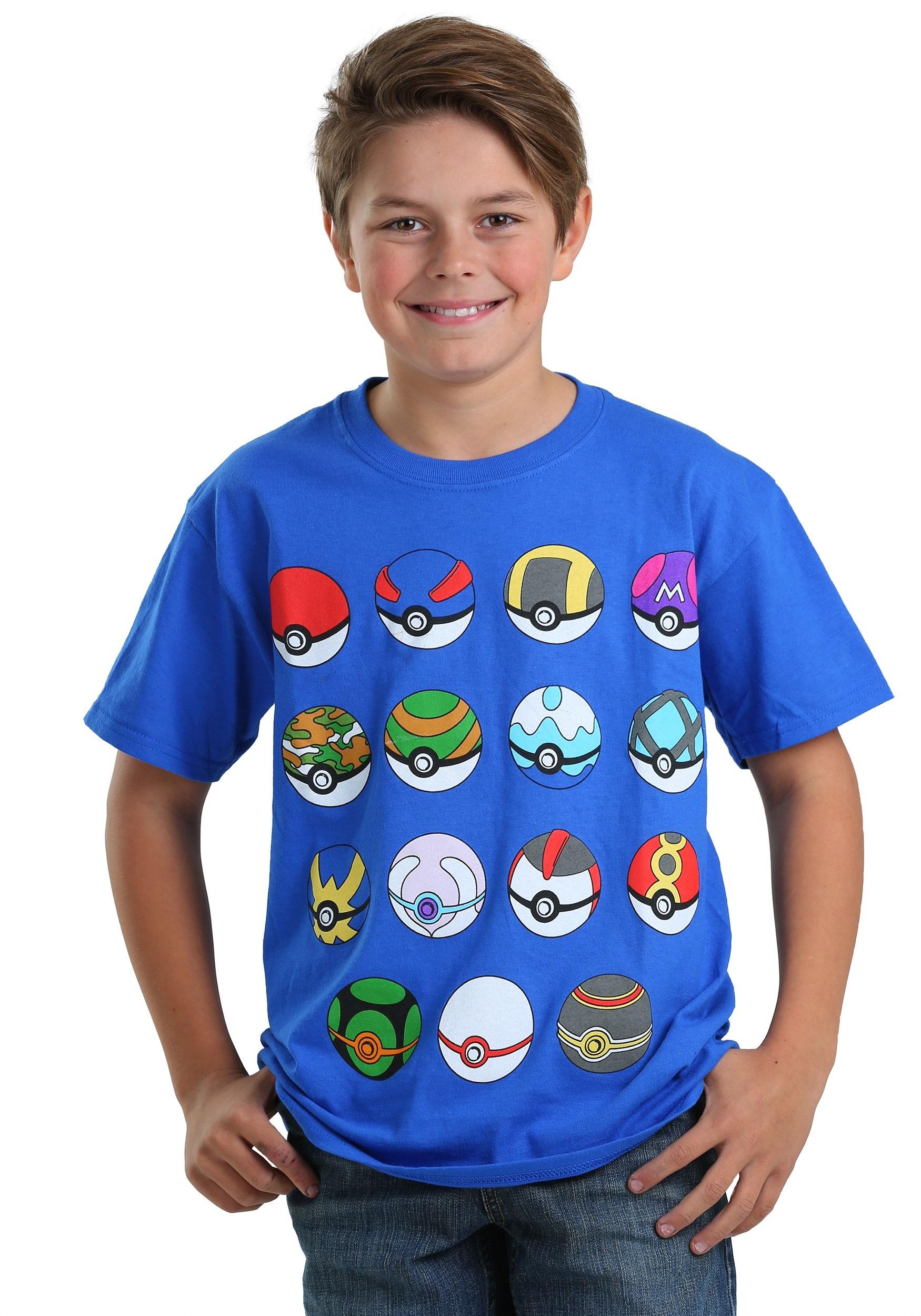 Boys Pokeball Tee From Pokemon