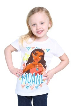 Moana Girls White T-Shirt