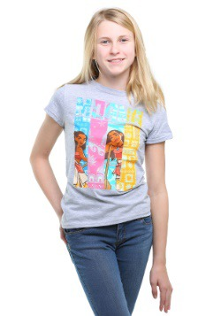 Girls Moana Gray T-Shirt