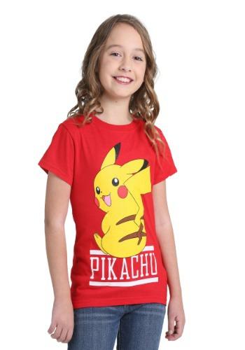 Pikachu Red Shirt for Girls