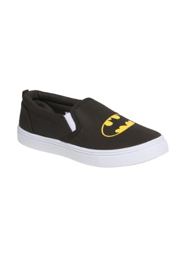Kids Batman Logo Slip-On Canvas Shoes
