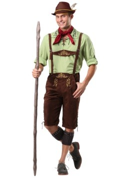 Mens Alpine Lederhosen Costume