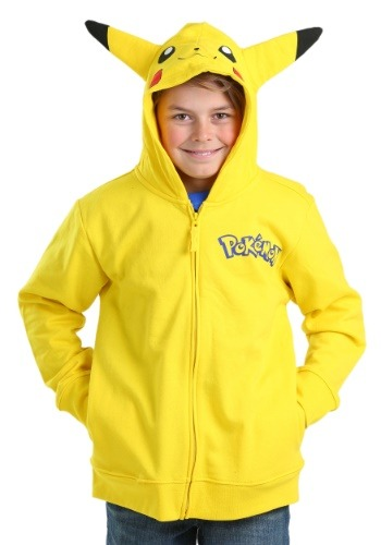 Pokemon Boys Pikachu Costume Hooded Sweatshirt FZMUSB156-6B30