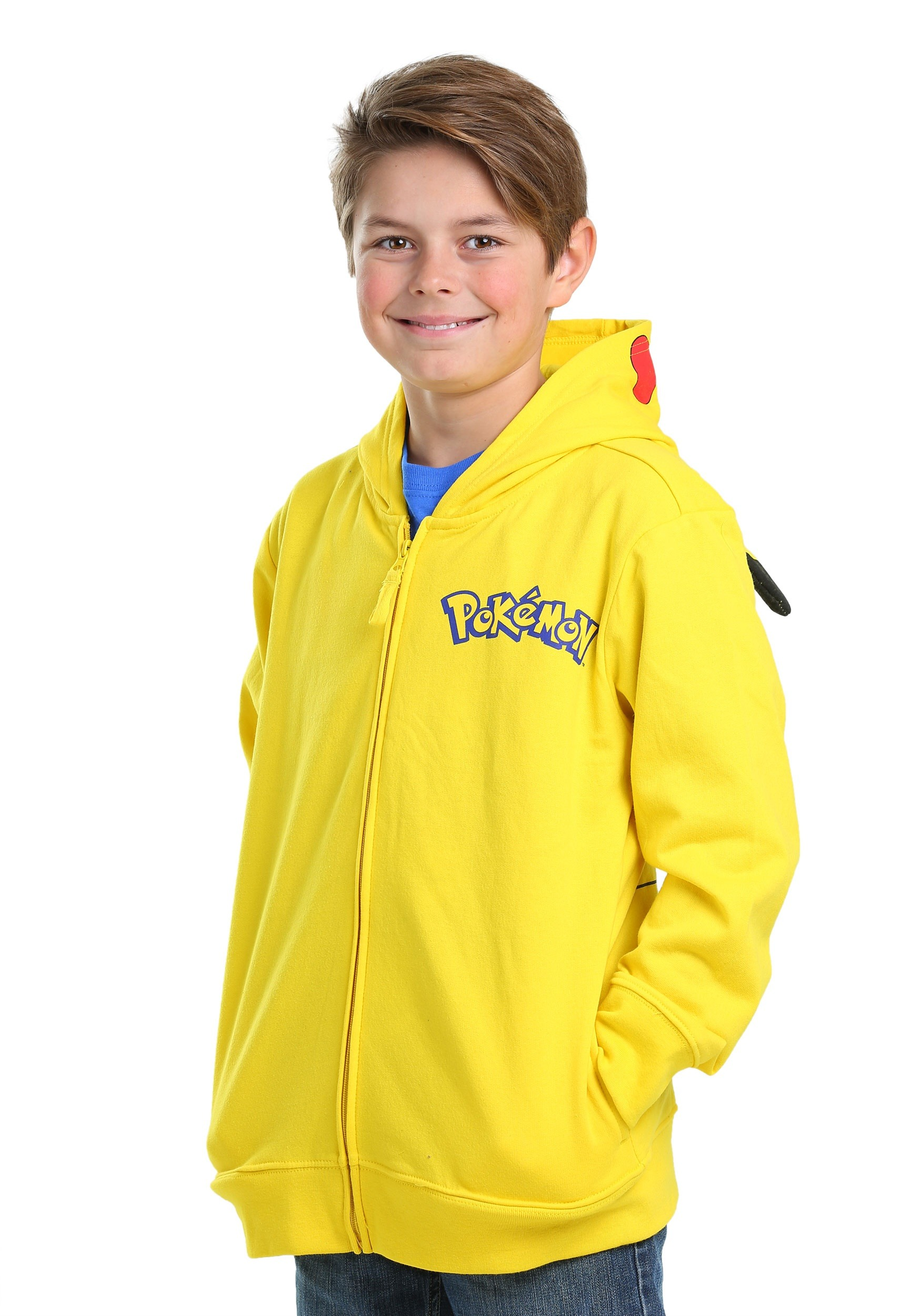... Pokemon Boys Pikachu Costume Sweatshirt  sc 1 st  Fun.com & Pokemon Pikachu Costume Hooded Sweatshirt for Boys