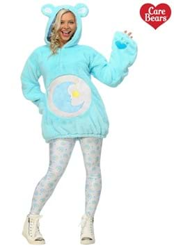 Care Bears Deluxe Bedtime Bear Hoodie Costume for Women  sc 1 st  Fun.com & Care Bears Grumpy Bear Slippers for Adults