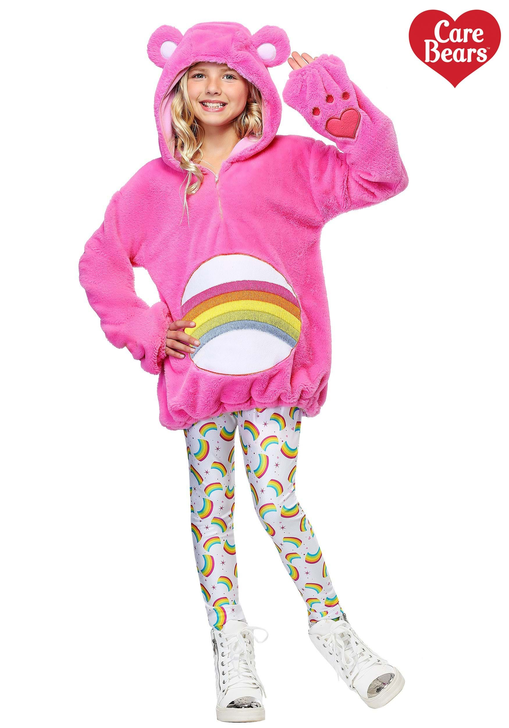 Care Bears Deluxe Cheer Bear Kids Costume  sc 1 st  Fun.com : pink care bear costume  - Germanpascual.Com