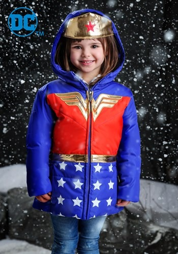 DC Comics Wonder Woman Girls Puffer Coat upd