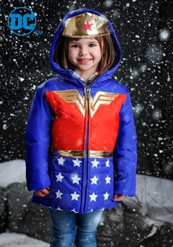DC Comics Wonder Woman Girls Puffer Coat