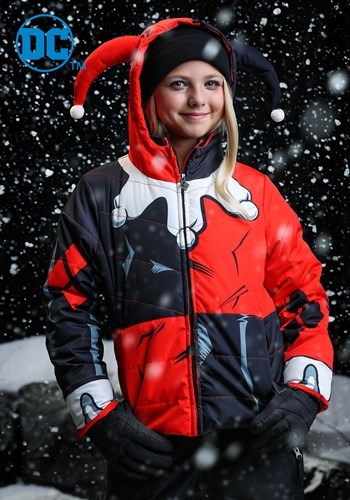 DC Comics Harley Quinn Girls Puffer Coat upd