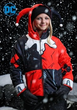 DC Comics Harley Quinn Girls Puffer Coat upd