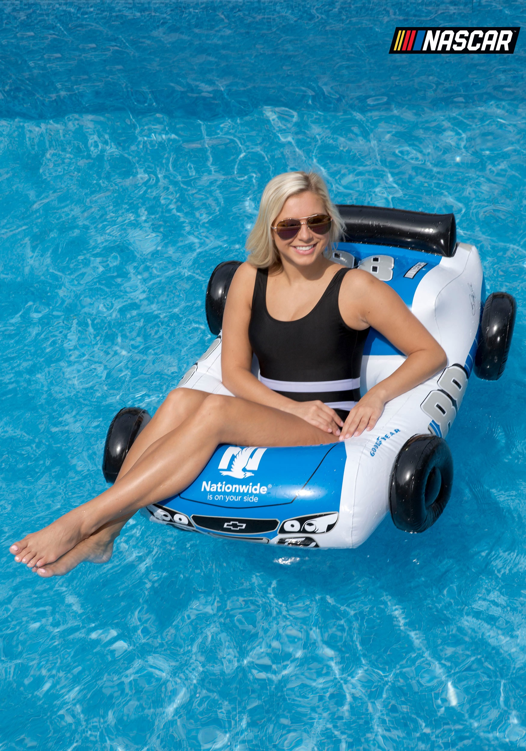 NASCAR Dale Earnhardt Jr. Car Small Pool Float & Race Car Pool Inflatable NASCAR Dale Earnhardt Jr.