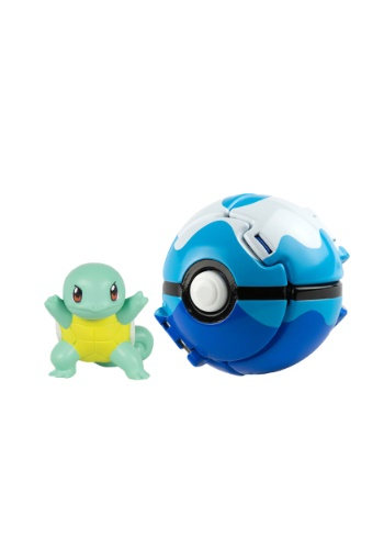 Throw N Pop Poke Ball With Squirtle Figure TOMT19112-ST
