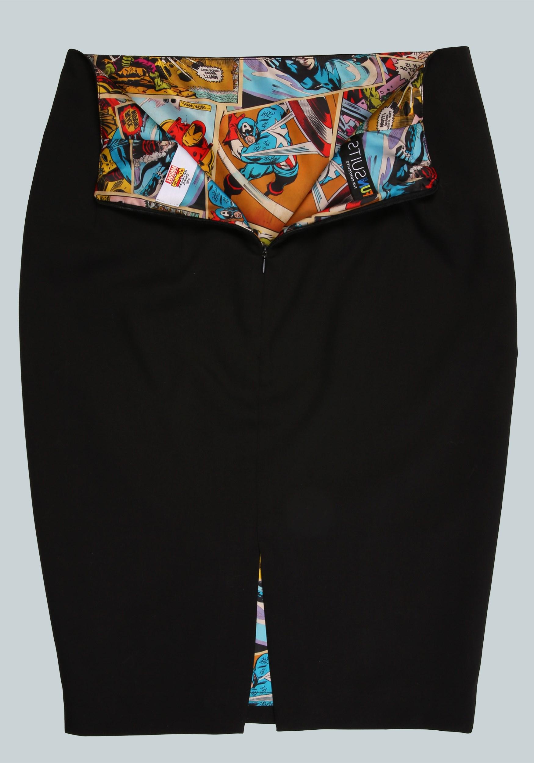 Marvel Vintage Print Womens Pencil Skirt5