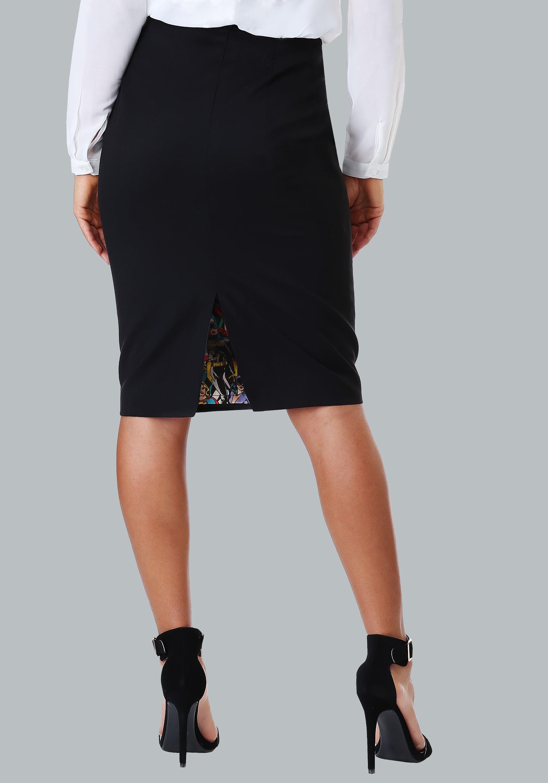 DC Comics Vintage Print Pencil Skirt for Women ceae3f354