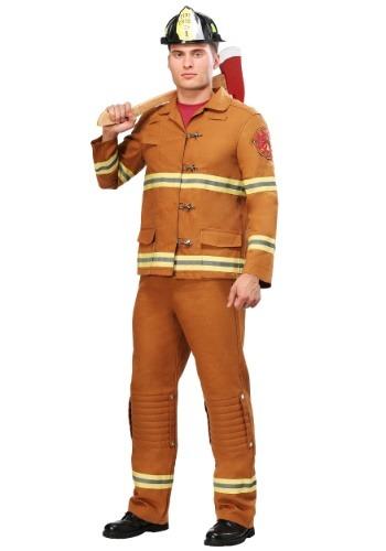 Adult Tan Uniform Firefighter Costume
