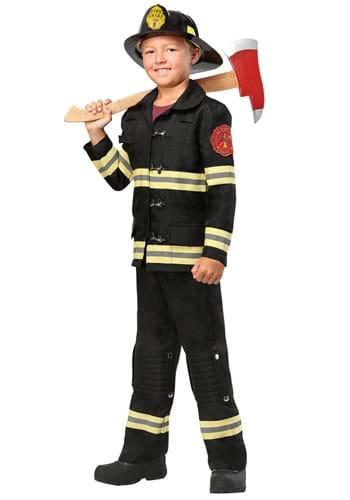 Kids Black Uniform Firefighter Costume-update