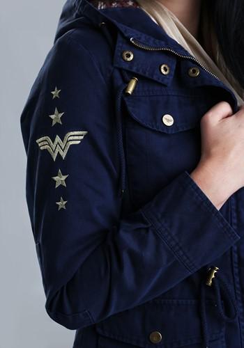 DC Wonder Woman Canvas Cargo Womens Jacket Alt3