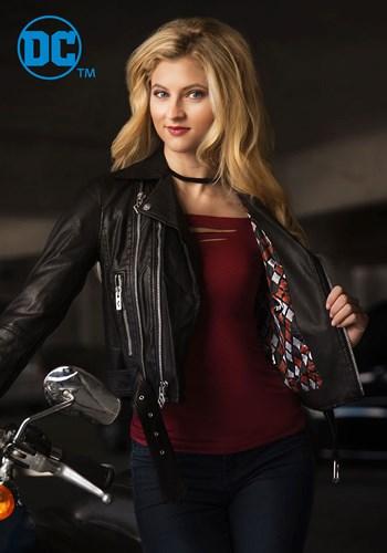 DC Women's Harley Quinn Moto Jacket upd