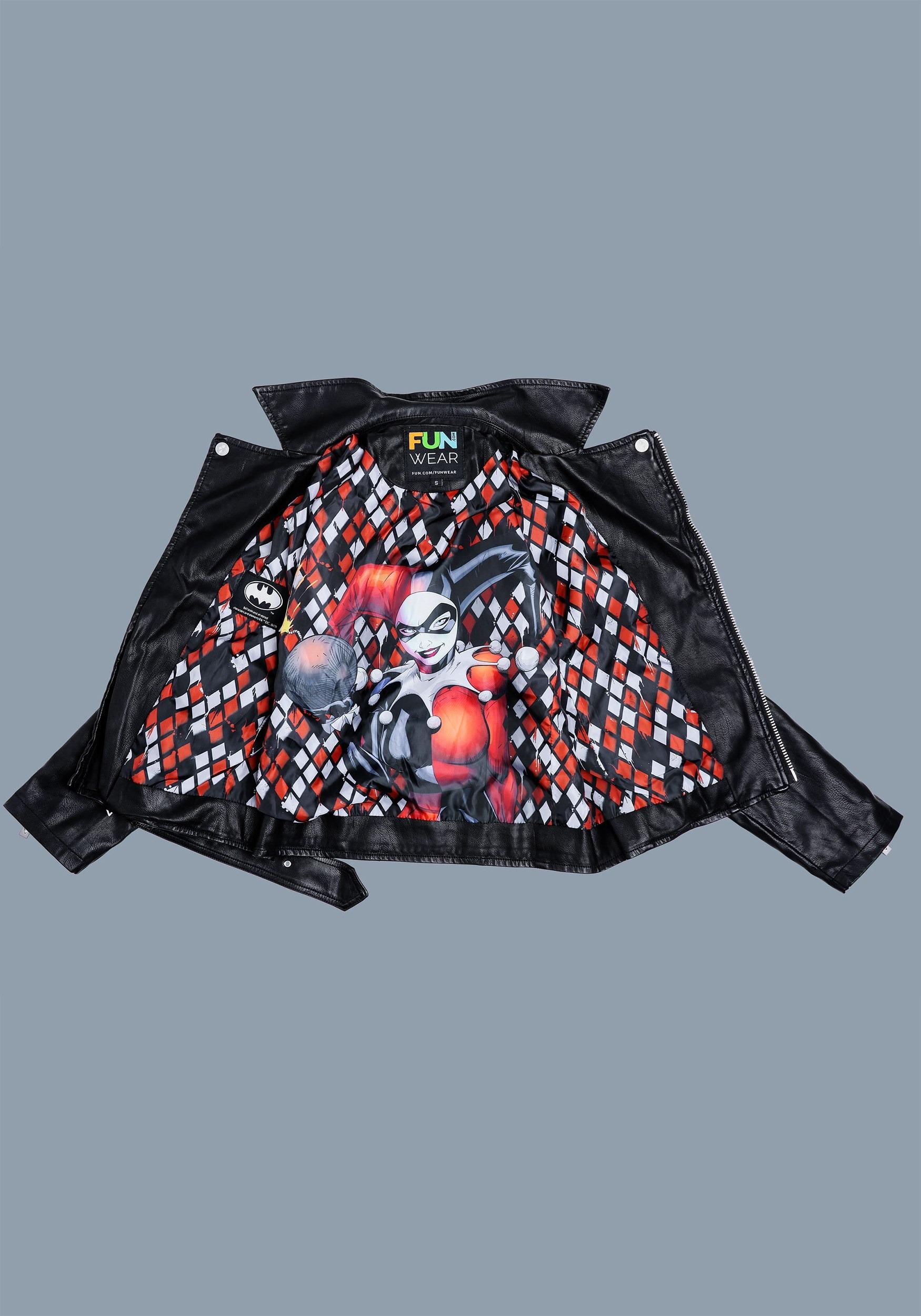 DC Women's Harley Quinn Moto Jacket