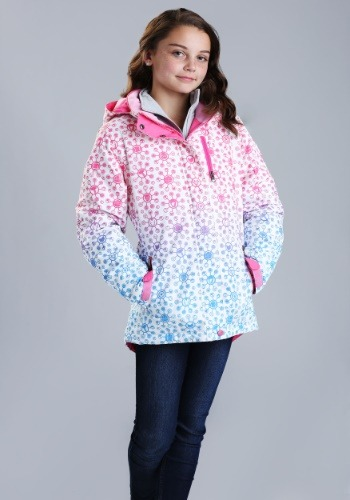 Marvel Avengers All Over Print Girls Ski Coat