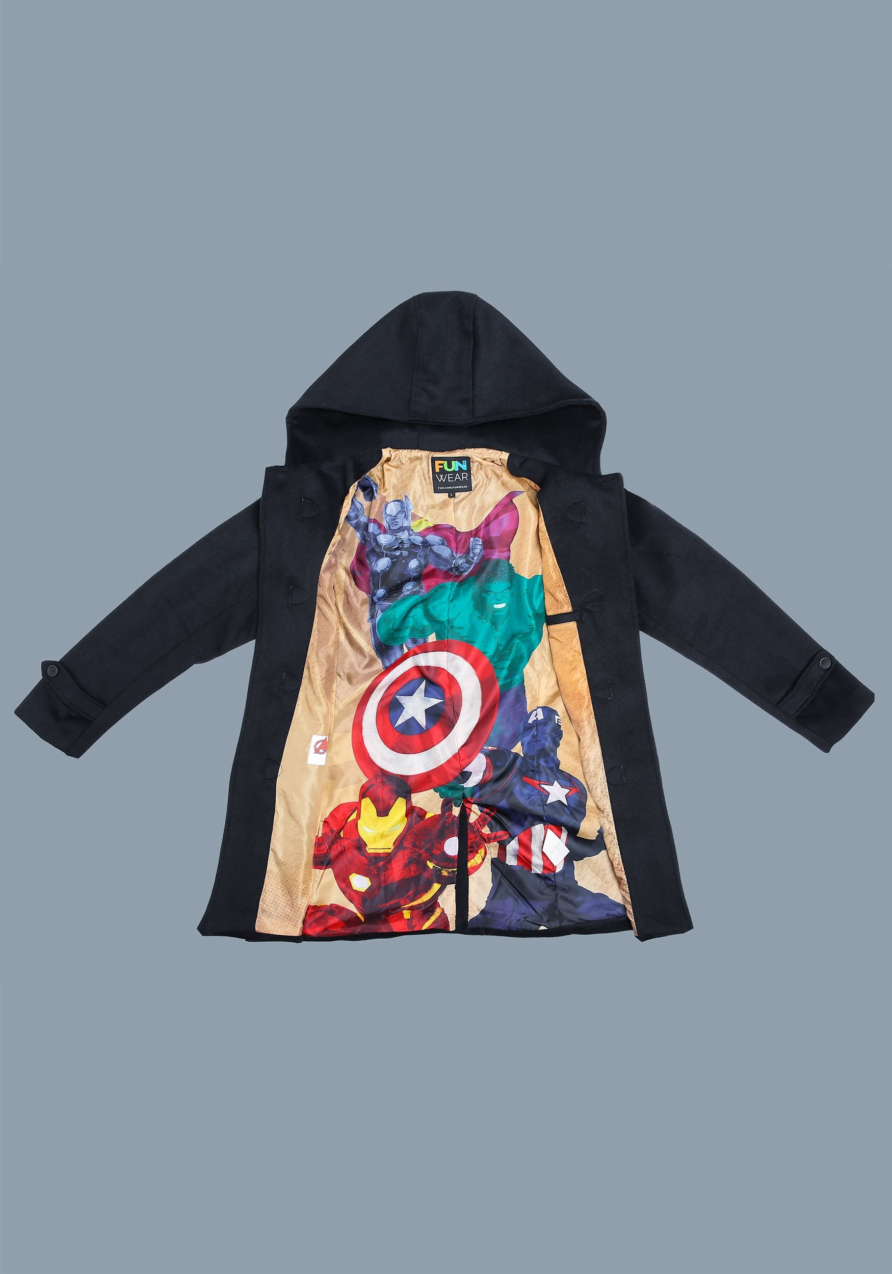 Marvel Avengers Men's Subtle Duffel Coat