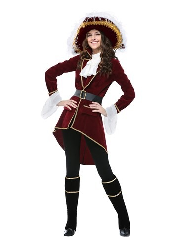 Womens Plus Size Captain Hook Costume