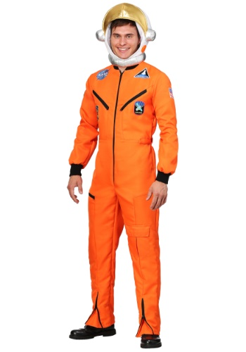 Orange Astronaut Adult Jumpsuit Costume