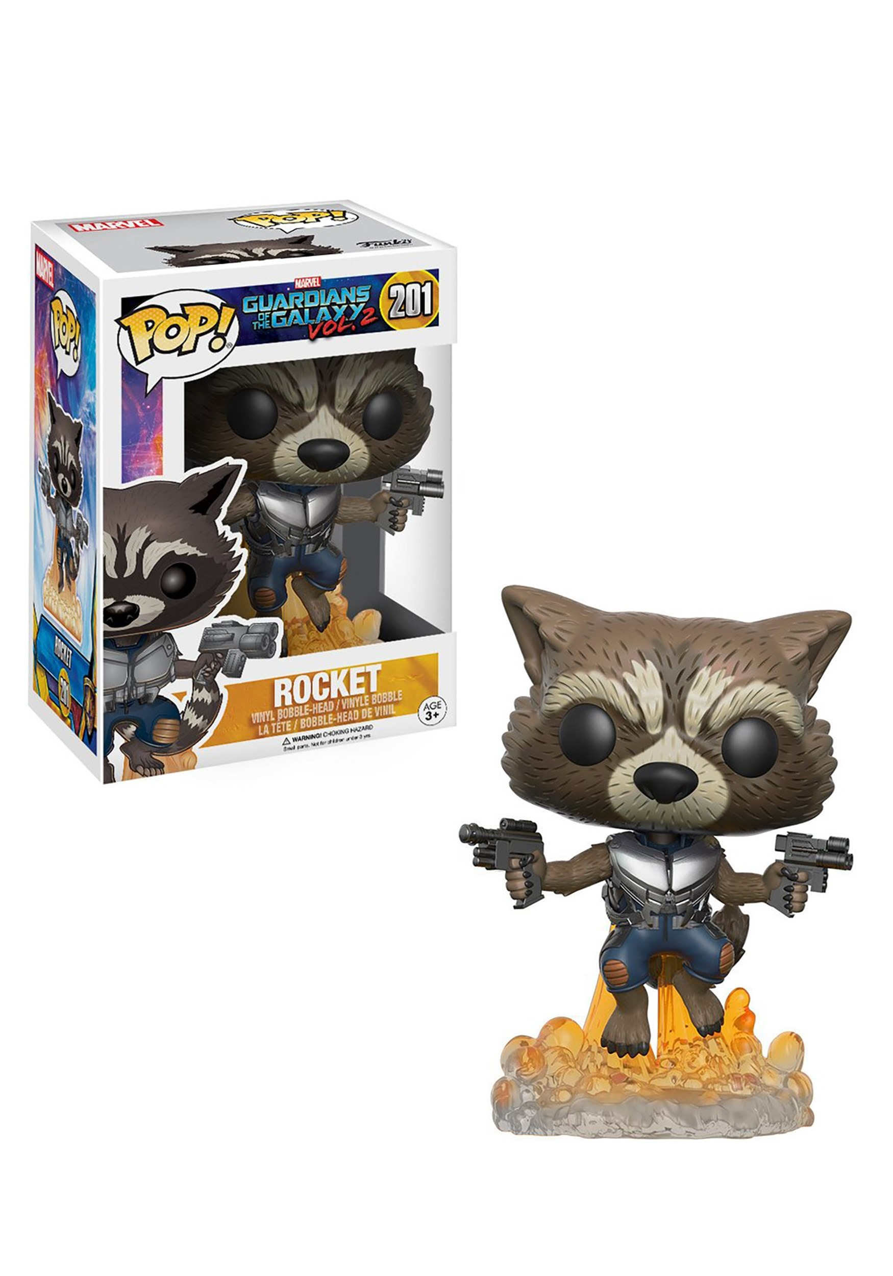 POP Guardians 2 Rocket Raccoon Bobblehead Figure FN13270