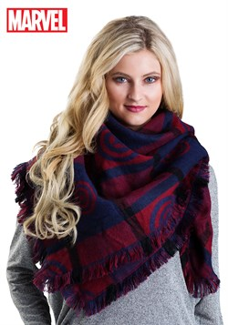 Marvel Captain America Women's Blanket Scarf Updated