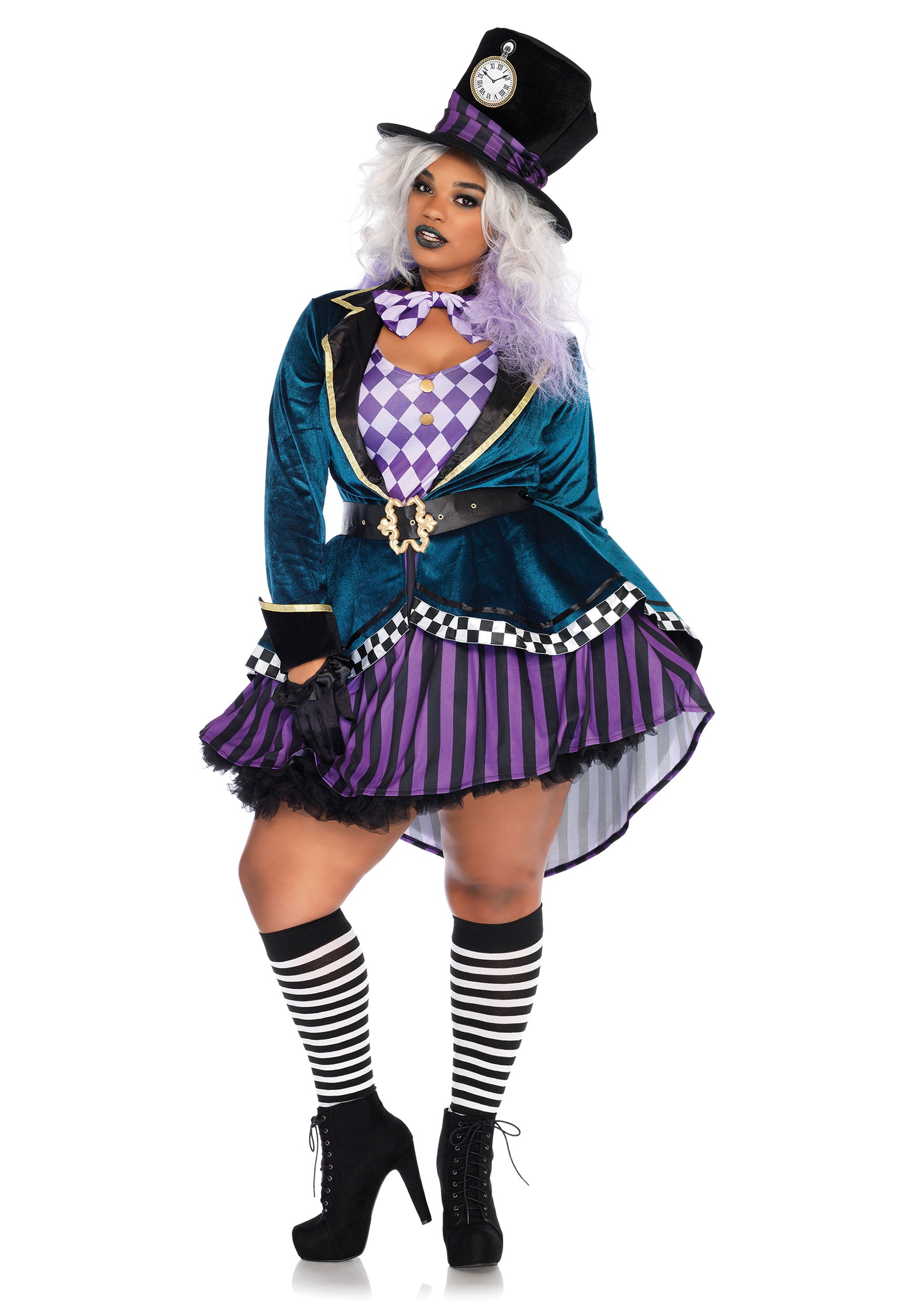 Womenu0027s Delightful Mad Hatter Plus Size Costume  sc 1 st  Fun.com & Delightful Mad Hatter Plus Size Costume for Women