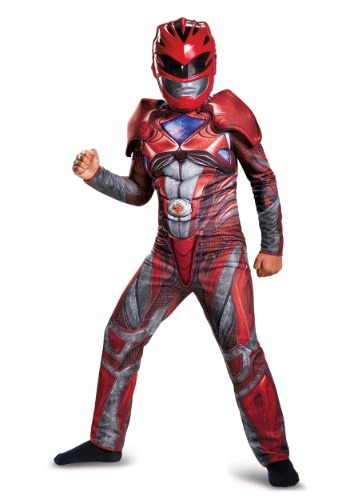 Child Red Ranger Movie Classic Muscle DI19073