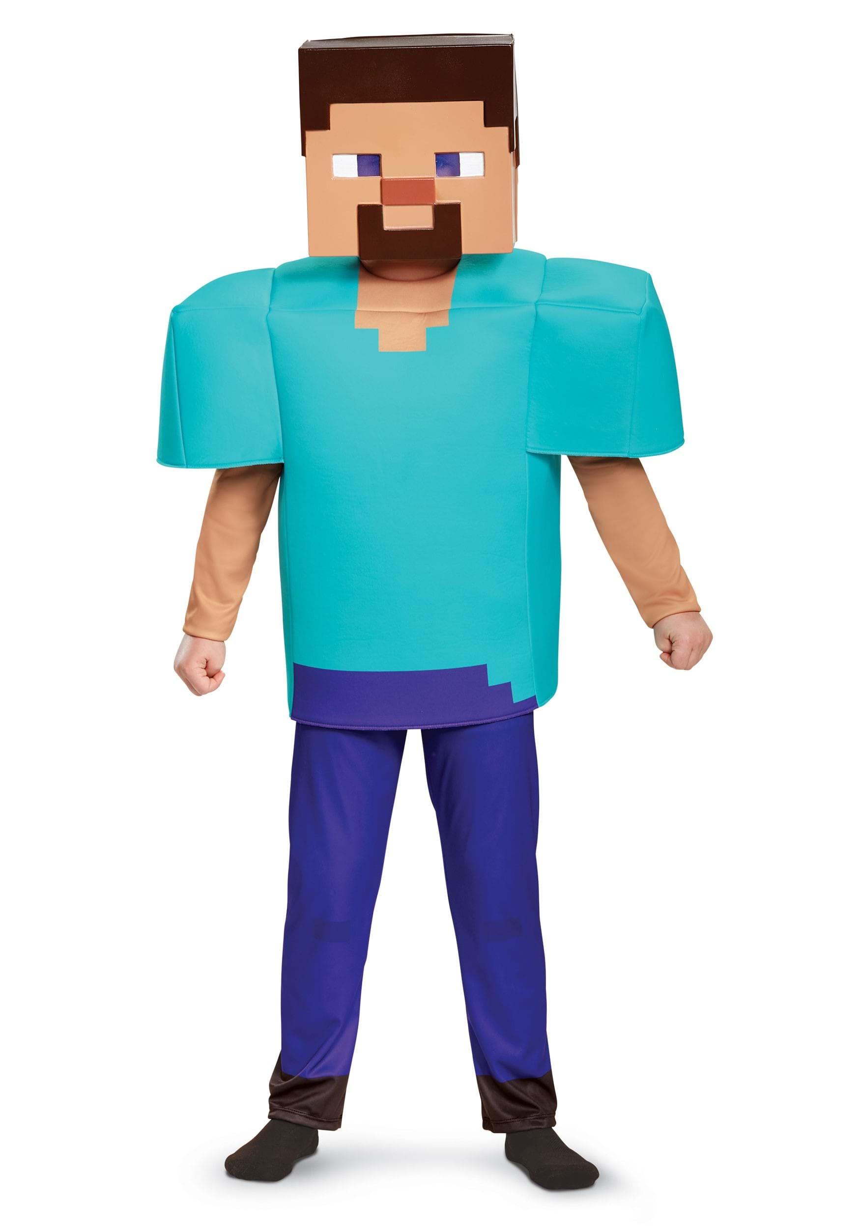 Minecraft Steve Costume For Kids