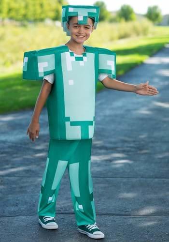 Deluxe Minecraft Armor Kids Costume