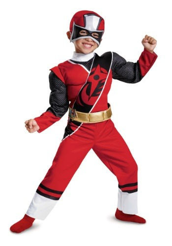 Toddler Red Ranger Ninja Steel Muscle Costume