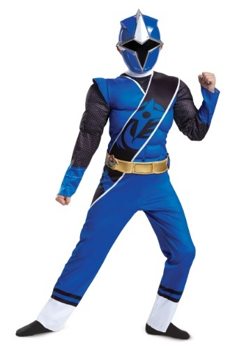 Blue Ranger Ninja Steel Muscle Child Costume