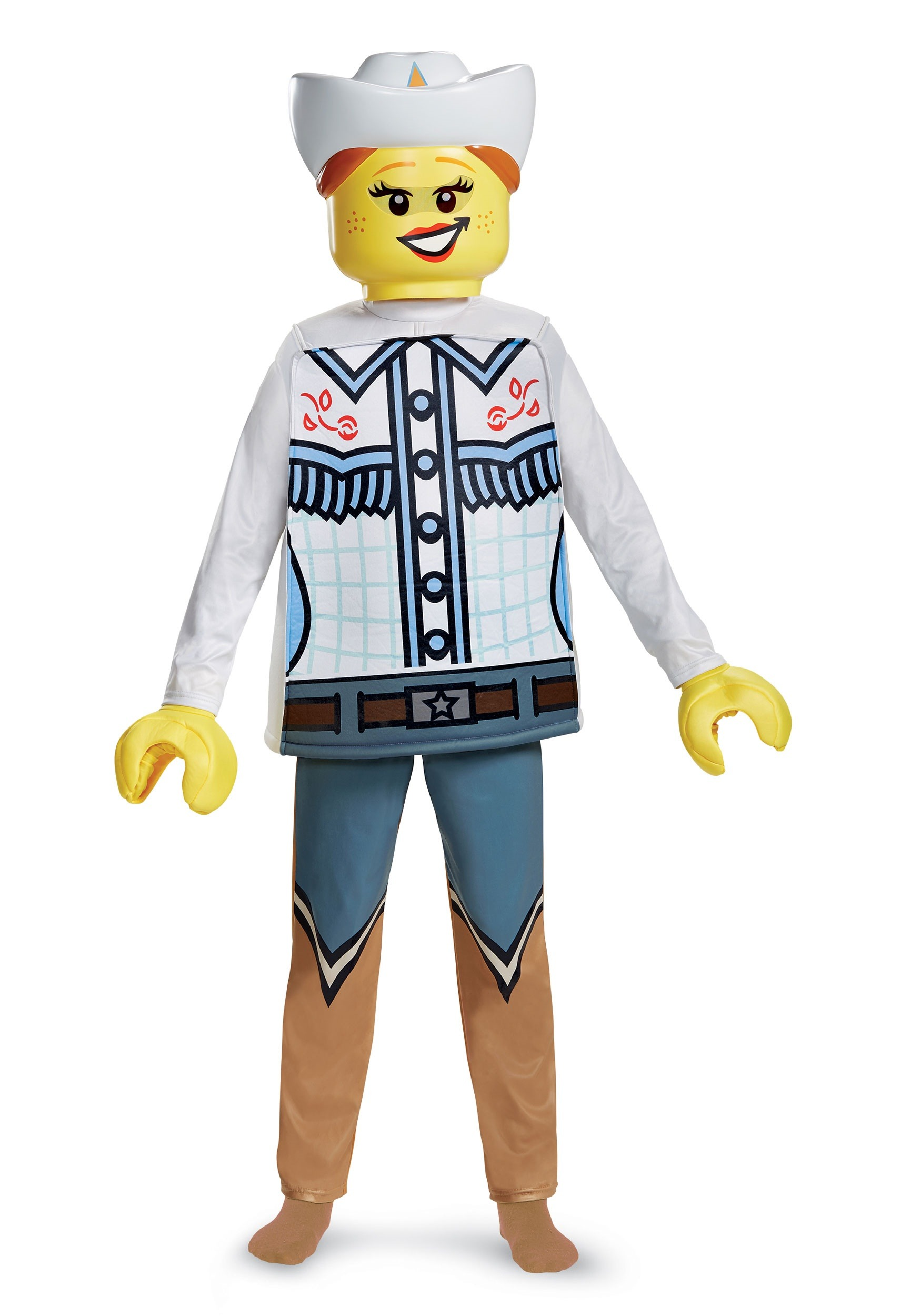 Deluxe Lego Cowgirl Child Costume