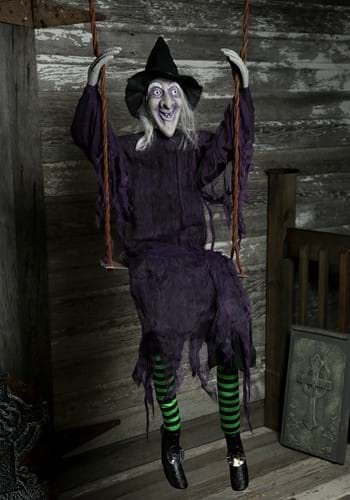 Halloween Swinging Witch Decoration