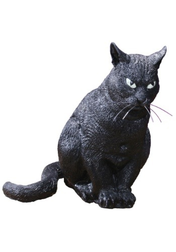 "13"" Realistic Scary Cat Halloween Decoration"