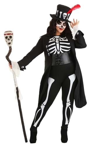 Women's Plus Size Voodoo Skeleton Costume