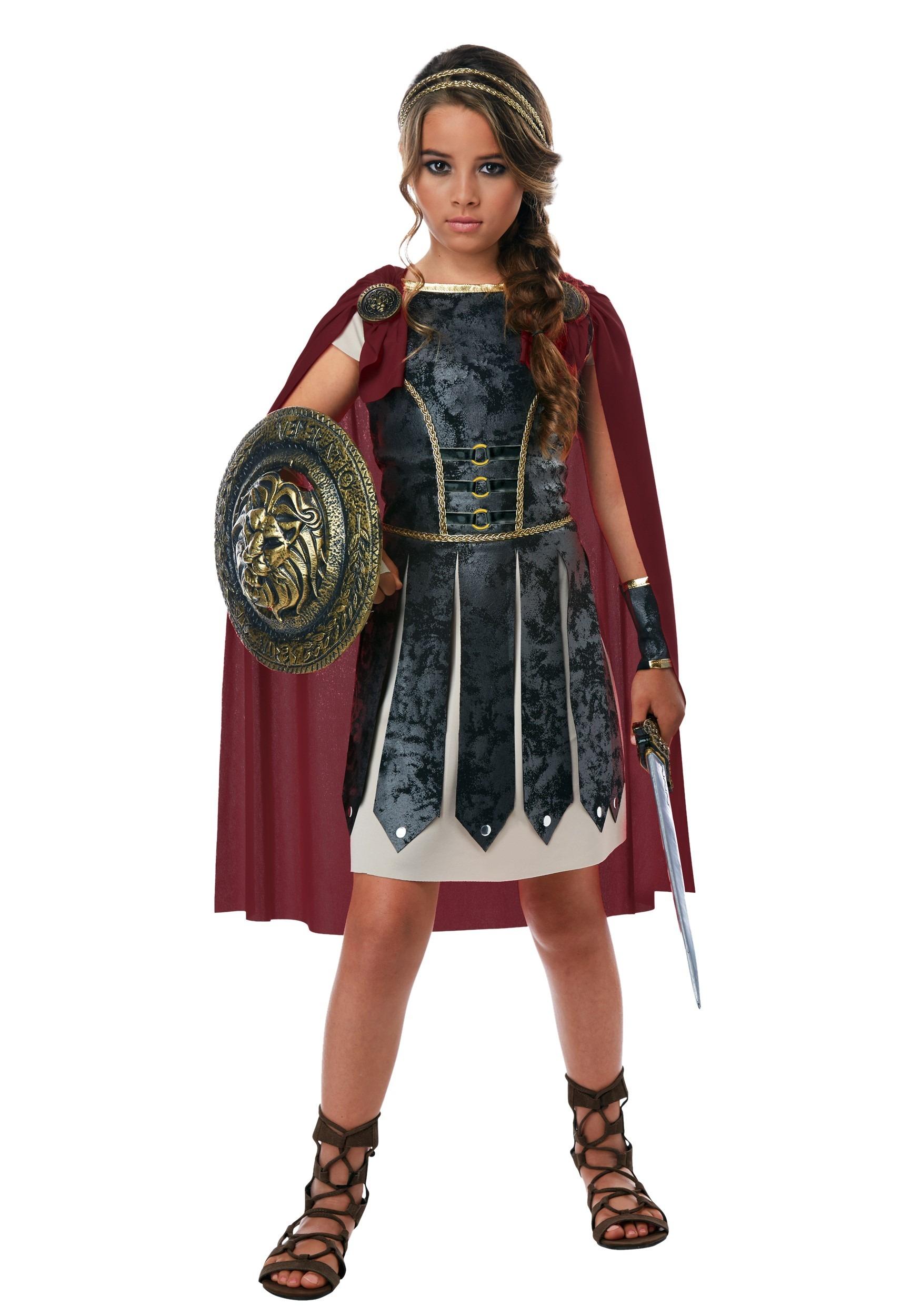 Girls Fearless Gladiator Costume-update1  sc 1 st  Fun.com & Fearless Gladiator Girls Costume