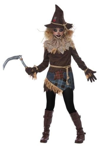 Creepy Scarecrow Girls Costume