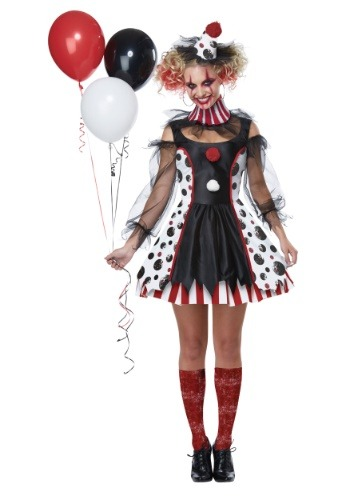 Creepy Clown Women's Costume