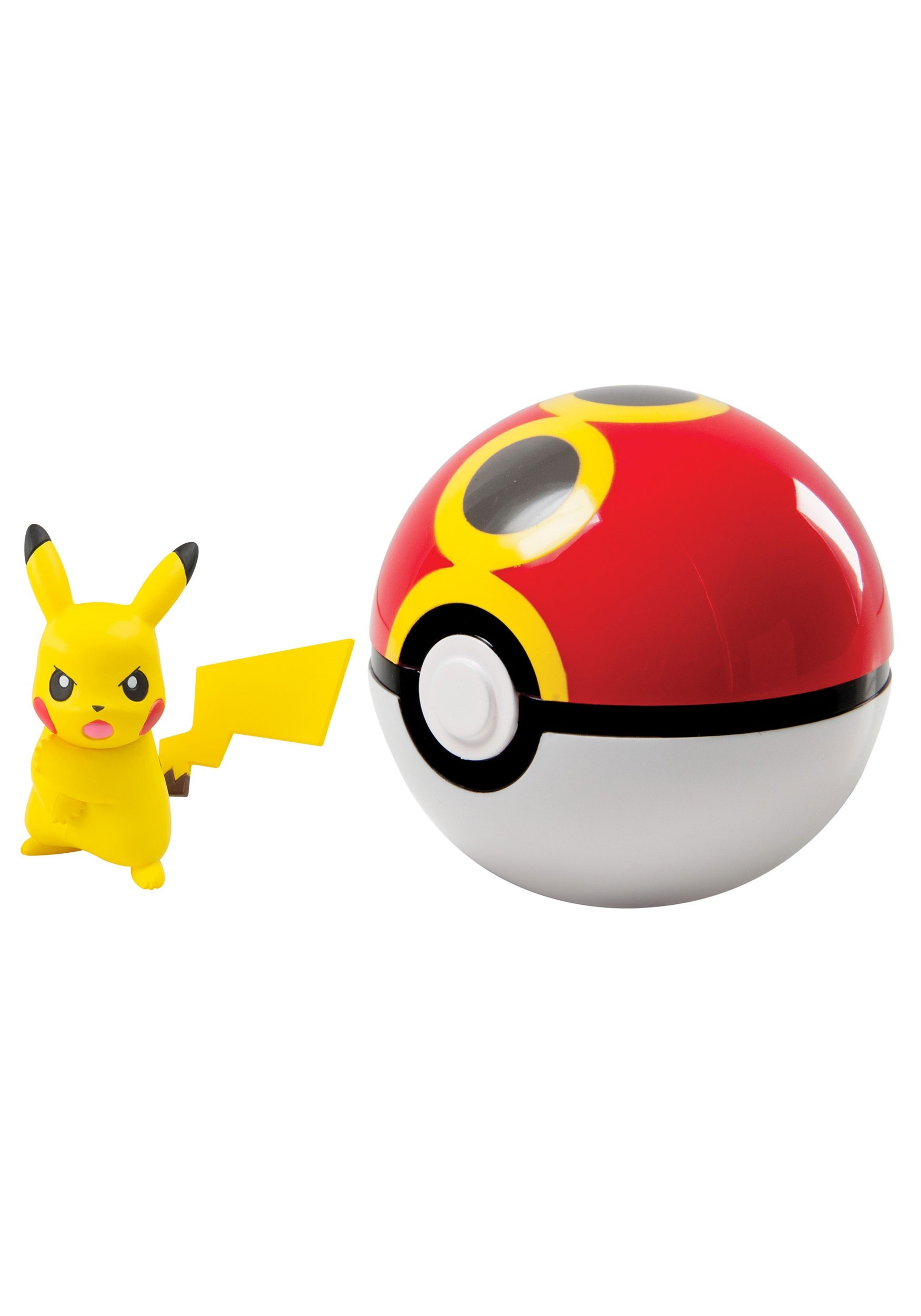 Pikachu + Pokeball Clip n Carry TOMT19119