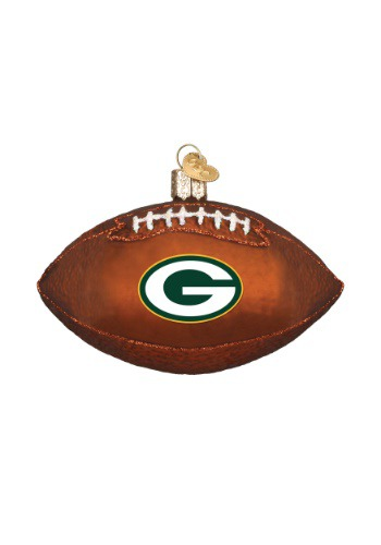 Green Bay Packers Glass Football Ornament