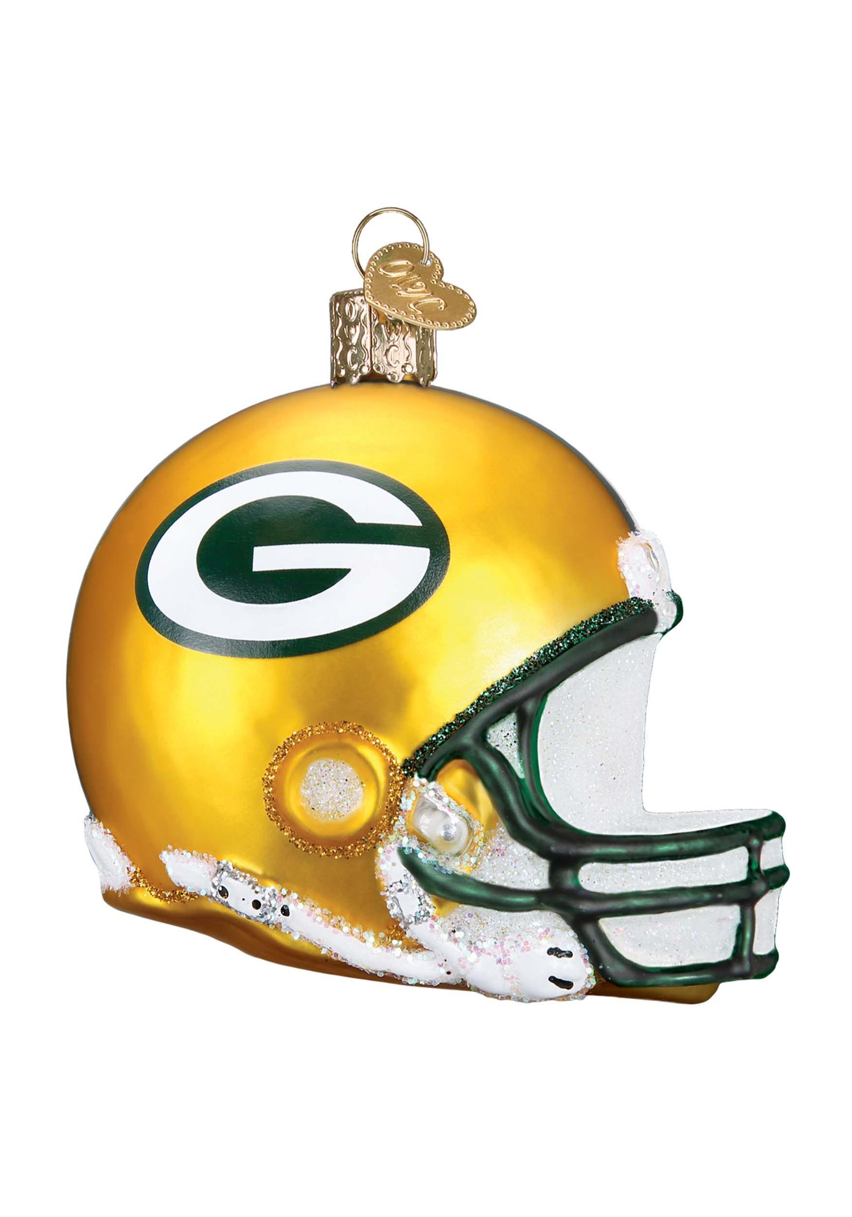 4643f2251 Green Bay Packers Glass Helmet Ornament