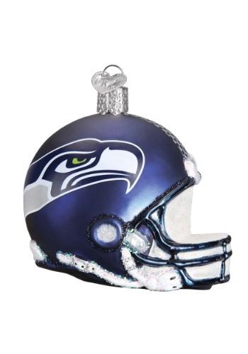 Seattle Seahawks Glass Helmet Ornament