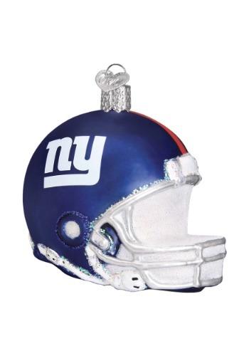 New York Giants Helmet Glass Ornament